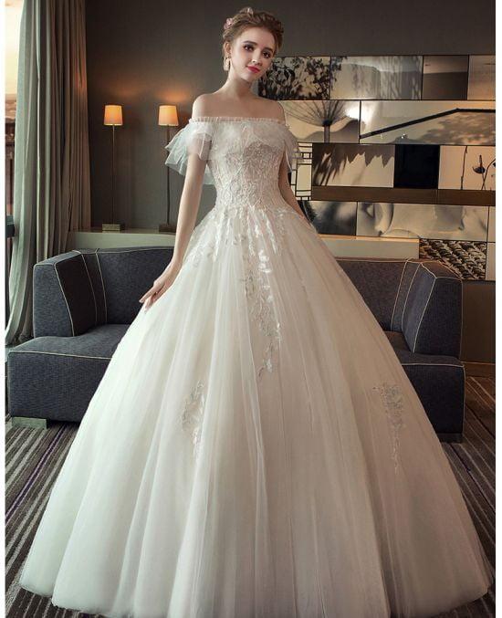 áo cưới nhẹ nhàng ANN -110