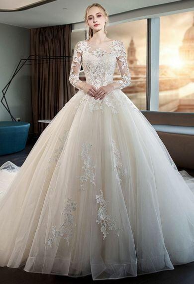 Áo cưới có tay