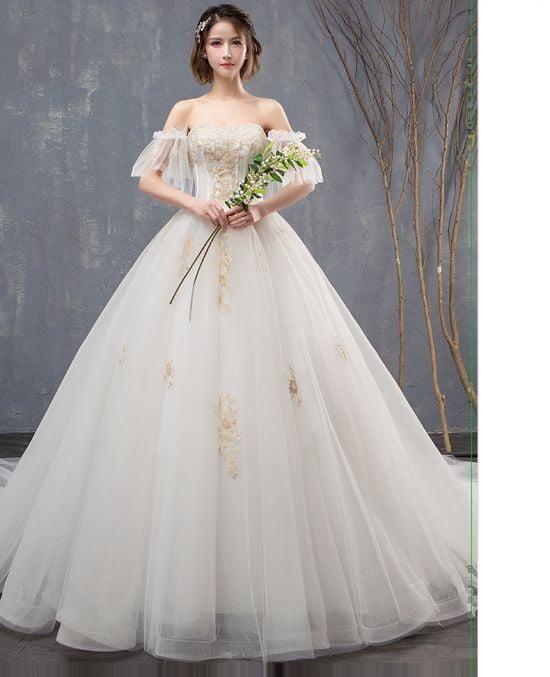 Những mẫu áo cưới có tay đẹp nhất 2020 tại aocuoicodau.com
